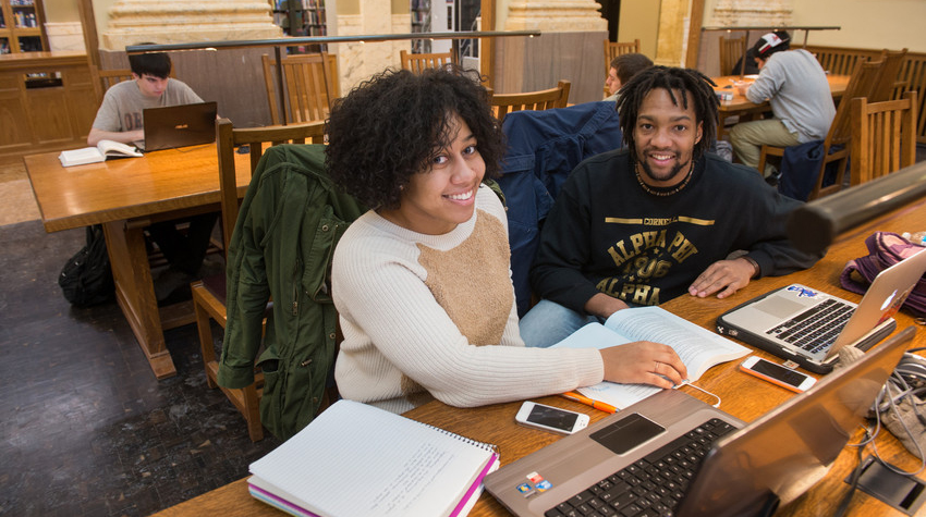 Photo: Students in Carnegie Library