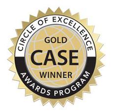 Gold CASE winner logo
