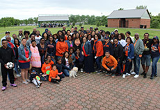 Attendees at multicultural picnic
