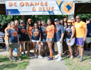 Orange and Blue barbecue organizers