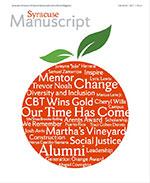 Cover of Fall 2018 Syracuse Manuscript magazine